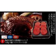 【ギフト】熟成和牛と完熟島豚のハンバーグ  120g×6個(ソース付)